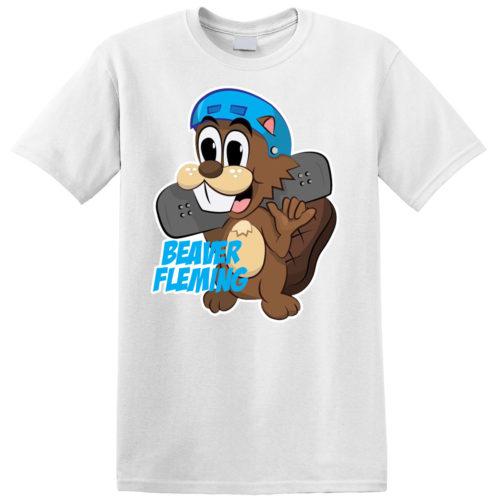 Skating Beaver Tee White
